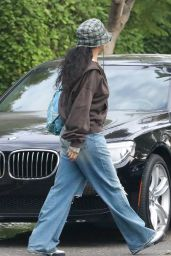 Rihanna - Leaves Her Home in Los Angeles 10/07/2021