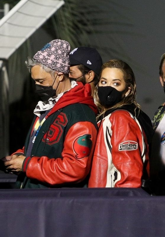 Rita Ora - Waits in the VIP Line at The Rolling Stones Concert in LA 10/14/2021