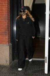 Rita Ora Wearing an A.P.C Sweater and Pants - NYC 09/30/2021
