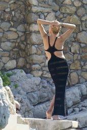 Sharon Stone - Photoshoot in Black Dress - France 10/02/2021
