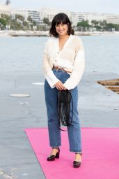 """Shirine Boutella - """"Christmas Flow"""" Photocall at the 4th Canneseries 10/09/2021"""