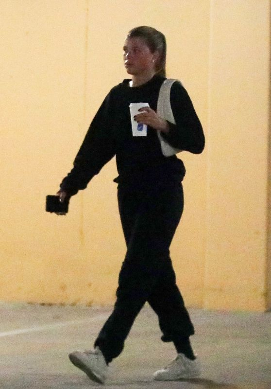 Sofia Richie in All Black - Out in Beverly Hills 10/08/2021