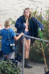 "Suki Waterhouse - ""Daisy Jones & The Six"" Filming Set in Malibu 10/04/2021"