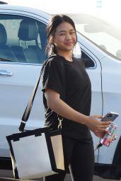 Sunisa Lee - Arrives for Rehearsal at DWTS Studio in LA 10/08/2021