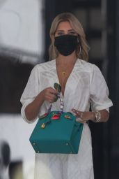 Sylvie Meis in All White - Shopping in Beverly Hills 10/12/2021