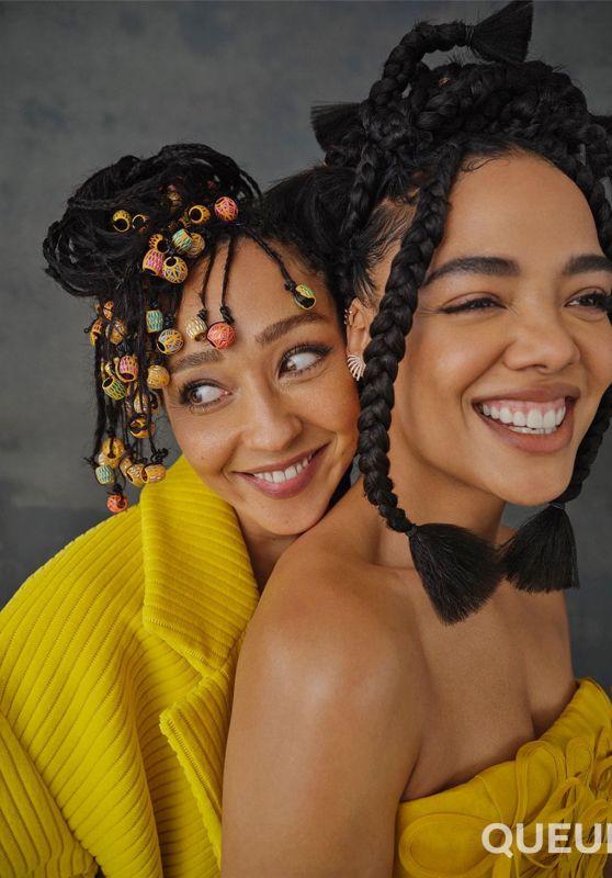 Tessa Thompson and Ruth Negga - Netflix Queue October 2021