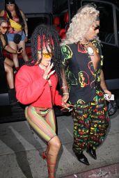 Teyana Taylor – Arriving at Cardi B's 29th Birthday Party in LA