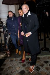 Tina Kunakey and Vincent Cassel – Vogue Paris Celebrating its 100th Anniversary at the Palais Galliera in Paris 10/01/2021