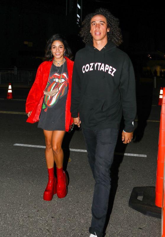 Vanessa Hudgens and Cole Tucker at The Rolling Stones Concert in LA 10/14/2021