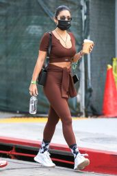 Vanessa Hudgens and GG Magree at the Dogpound Gym in LA 10/11/2021