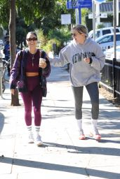 Vanessa Hudgens and GG Magree at the Dogpound Gym in Los Angeles 10/12/2021