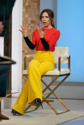Victoria Beckham in a Colorful Stylish Outfit at the GMA in NYC 10/12/2021