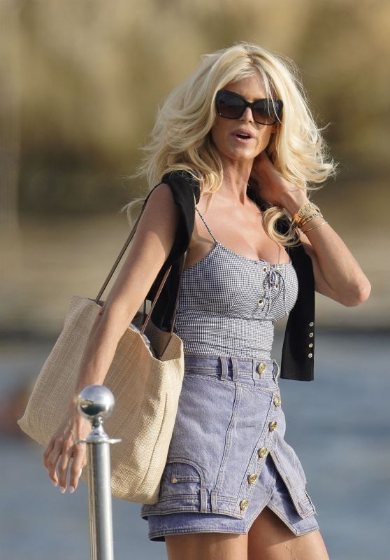 Victoria Silvstedt - Leaving the Eden Roc Hotel in Cap d Antibes 10/02/2021