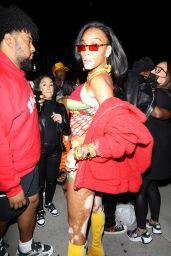 Winnie Harlow – Arriving at Cardi B's 29th Birthday Party in LA